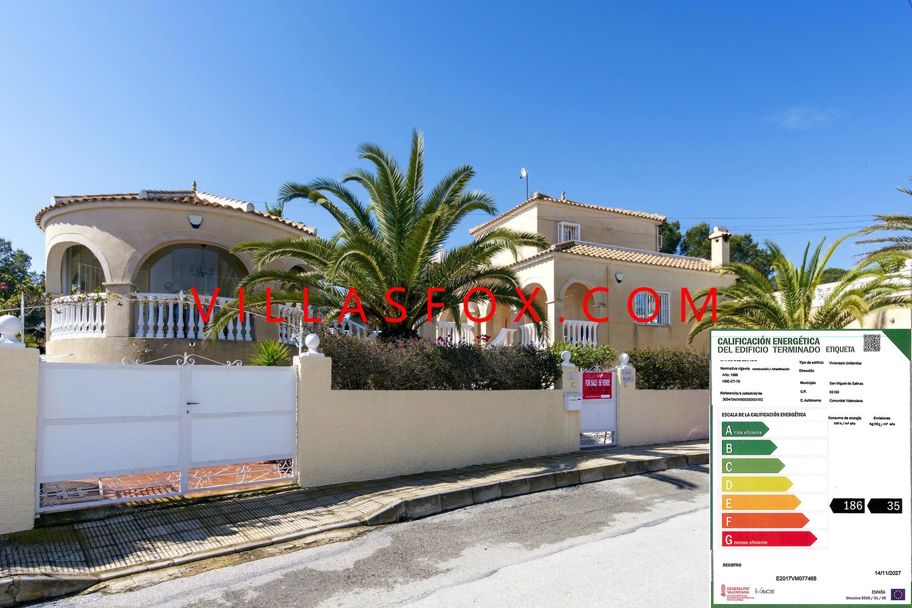 San Miguel de Salinas 4-bedroom villa Las Comunicaciones with great views, superb condition!