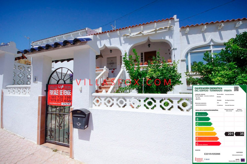 3-værelses rækkehus med 2 badeværelser, Balcón de la Costa Blanca, San Miguel de Salinas