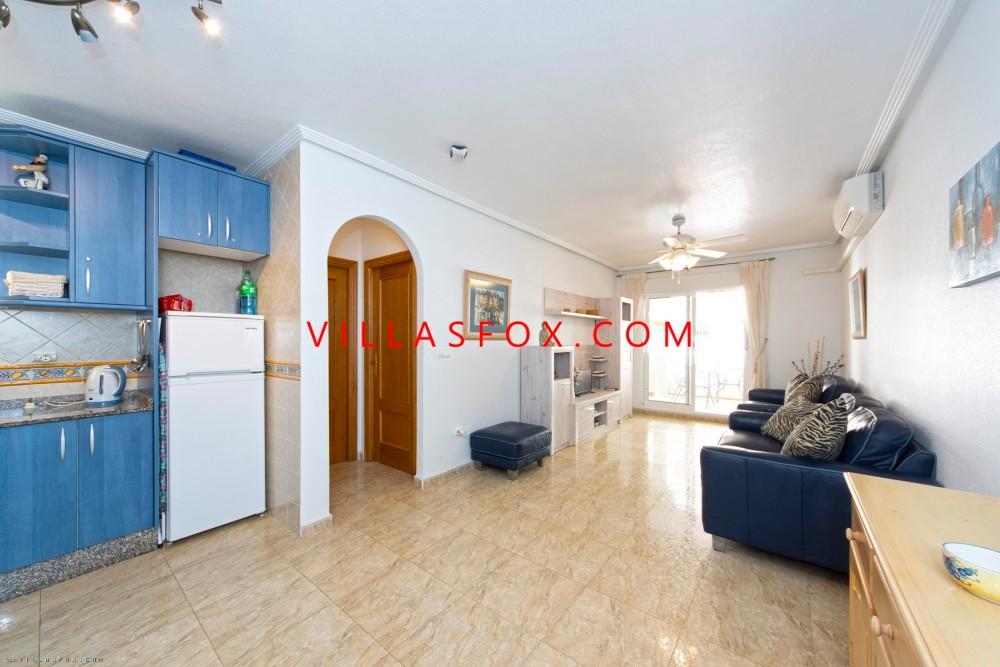 Costa Paraíso II lejlighed, 2 soveværelser, stor vinterhave, San Miguel de Salinas