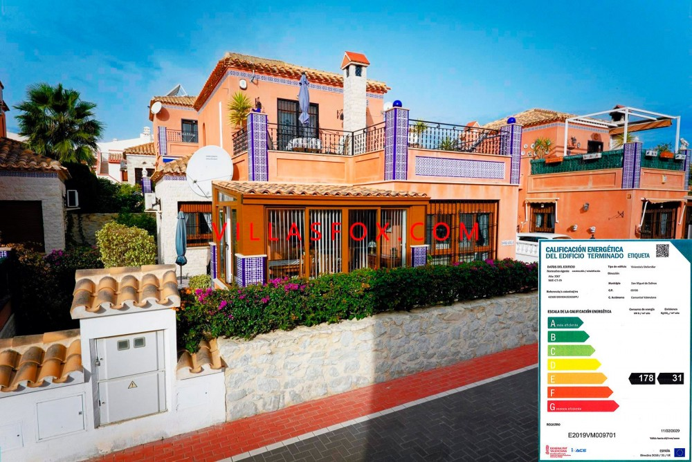 San Miguel de Salinas, La Cañada Villa 3 chambres, 2 salles de bains