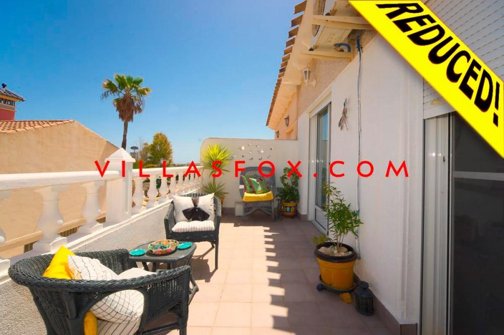 2-værelses fantastisk rækkehus med vinterhave, solarium, Balcón de la Costa, San Miguel de Salinas