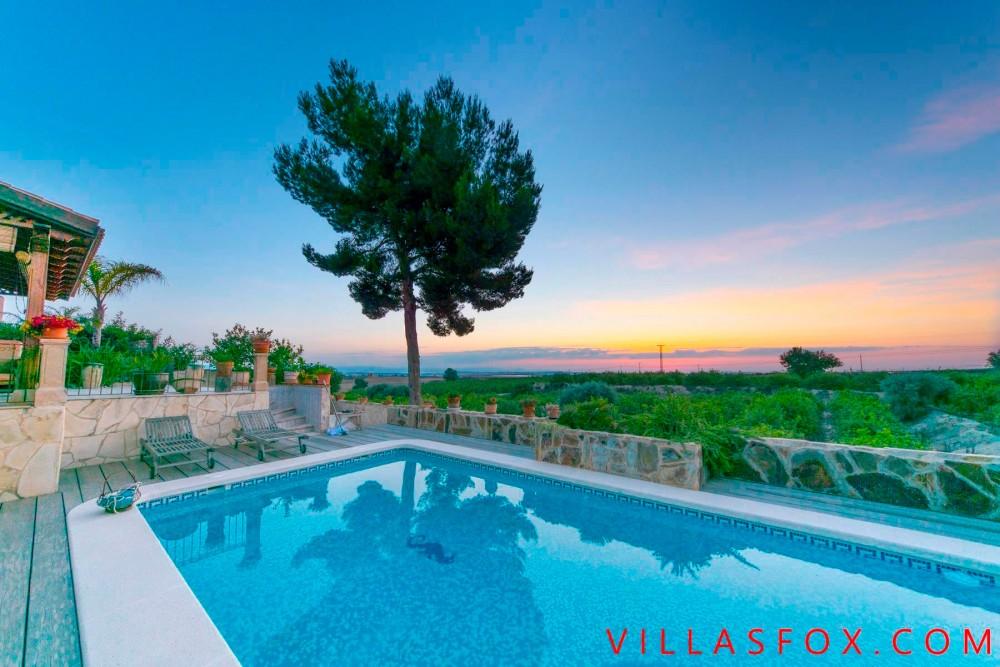 Villa San Miguel de Salinas avec cabine d'invités et superbes vues