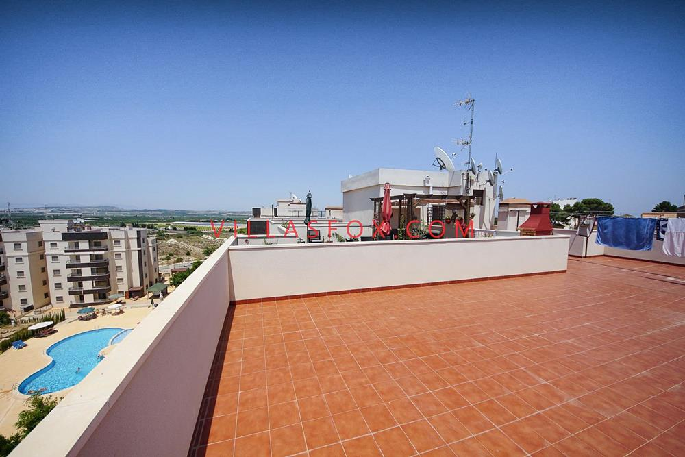 2-bedroom apartment with glazed terrace, pool, views, San Miguel de Salinas