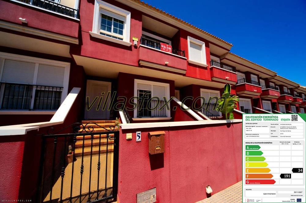 Maison de ville de 3 chambres à vendre à San Miguel de Salinas