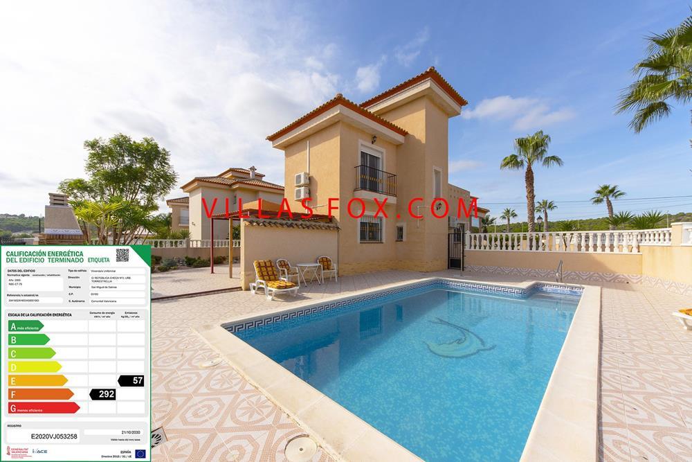 Suveren Torrestrella 3-roms villa med privat basseng, flott utsikt, San Miguel de Salinas