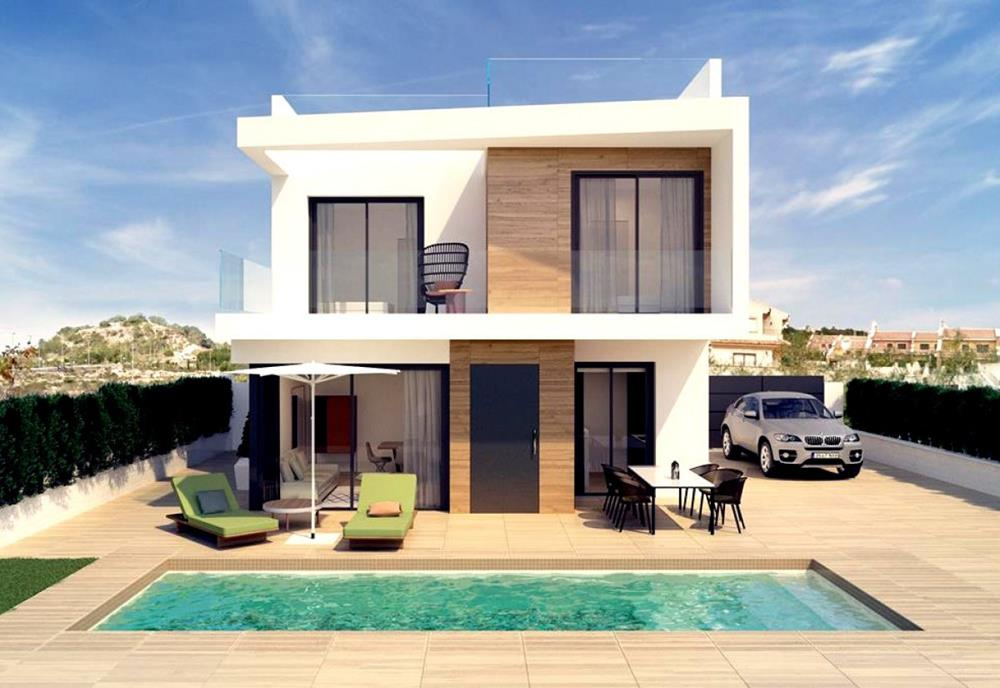 New build 3-bedroom detached villas with private pool, San Miguel de Salinas